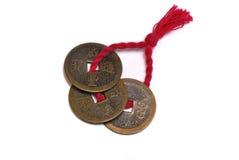 Vieilles pièces de monnaie chinoises Photo stock