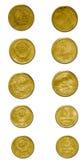Vieilles pièces de monnaie de l'URSS Image libre de droits