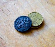 Vieilles pièces de monnaie de la Russie 1731 Photographie stock libre de droits