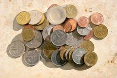 Vieilles pièces de monnaie de repère allemand Images stock