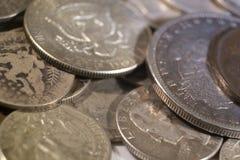 Vieilles pièces de monnaie des USA d'argent Images libres de droits