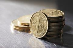 Vieilles pièces de monnaie finlandaises Photographie stock
