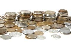 Vieilles pièces de monnaie réglées Images stock