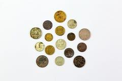 Vieilles pièces de monnaie soviétiques images libres de droits