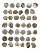 Vieilles pièces de monnaie turques et tatares médiévales Photos libres de droits