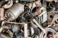 Vieilles pièces rouillées de véhicule Images libres de droits
