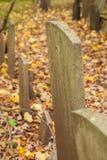 Vieilles pierres tombales dans le cimetière Images stock