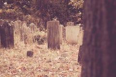 Vieilles pierres tombales dans le cimetière Photos stock