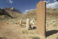 Vieilles pierres tombales occidentales images libres de droits
