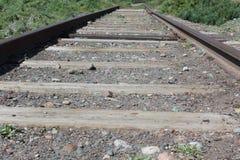 Vieilles pistes de train Photo stock