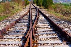 Vieilles pistes de train Image stock