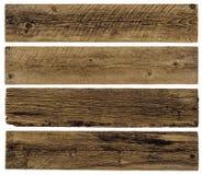 Vieilles planches d'isolement images stock