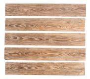 Vieilles planches en bois d'isolement sur le fond blanc image stock