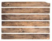 Vieilles planches en bois d'isolement sur le fond blanc photo libre de droits