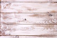 Vieilles planches peintes blanches Photos libres de droits