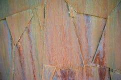 vieilles plaques de fer rouillées Images stock