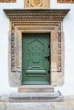 Vieilles portes en bois vertes Photos libres de droits