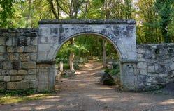 Vieilles portes en pierre Image stock