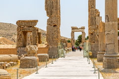 Vieilles portes en pierre de Persepolis Image stock