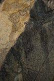 Vieilles roches jaunes Photographie stock libre de droits
