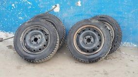 Vieilles roues Photos stock