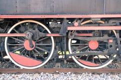 Vieilles roues de locomotive à vapeur Image libre de droits