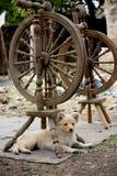 Vieilles roues de rotation Images stock