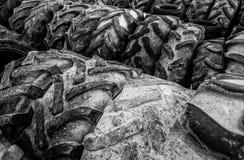 Vieilles roues de véhicule Photo libre de droits
