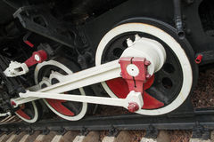 Vieilles roues locomotives photos stock