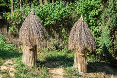 Vieilles ruches en bois photos libres de droits
