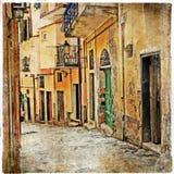 Vieilles rues avec du charme Images stock