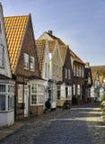 Vieilles rues dans le village danois Tonder photos libres de droits