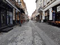 Vieilles rues de Bucarest photo stock