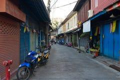 vieilles rues de la Thaïlande images libres de droits
