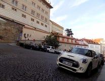 vieilles rues de route de Prague de pavé rond Image stock