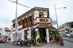 Vieilles rues et architecture de Georgetown à Penang, Malaisie Photo stock