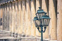 Vieilles rues, ville de Corfou Images libres de droits