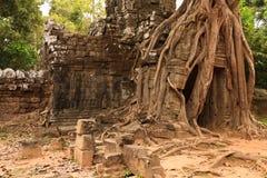 Vieilles ruines Angkor Vat Photo stock