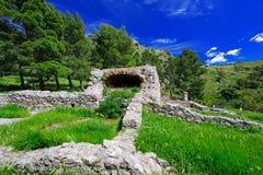 Vieilles ruines chez Cefalu Photographie stock libre de droits
