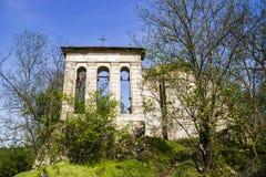 Vieilles ruines d'église catholique Photo libre de droits
