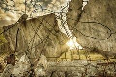 Vieilles ruines d'un bâtiment Image libre de droits