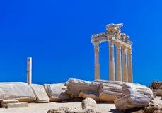 Vieilles ruines dans le côté, Turquie Image stock