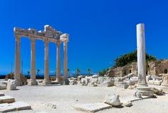 Vieilles ruines dans le côté, Turquie Image libre de droits