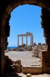 Vieilles ruines dans le côté, Turquie Images libres de droits