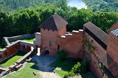 Vieilles ruines de château dans Turaida photographie stock libre de droits