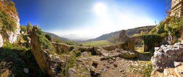 Vieilles ruines de forteresse de montagne de Kalnik Image libre de droits