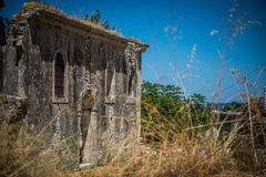 Vieilles ruines de Grec Photo stock