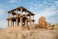 Vieilles ruines de hampi dans l'Inde Images libres de droits