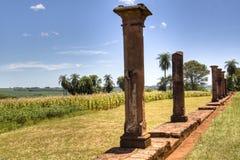 Vieilles ruines de jésuite en Encarnacion Image stock