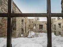 Vieilles ruines de moulin Photographie stock libre de droits